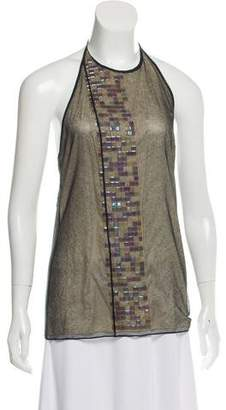 Lanvin Mesh Halter Top w/ Tags