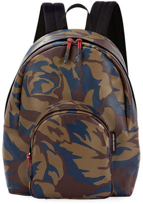 Alexander McQueen Men's Small Military Camo Leather Backpack