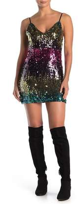 SEE THE SHADES Ombre Sequined Mini Dress
