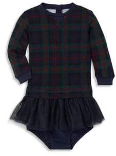 Ralph Lauren Baby Girl's Two-Piece Plaid Tulle Sweater Dress& Bloomer Set