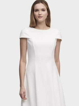 DKNY Fit-And-Flare Cap Sleeve Dress