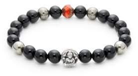 Jean Claude Onyx & Stainless Steel Spiritual Beaded Bracelet