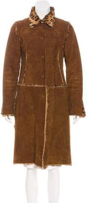 Dolce & Gabbana Suede & Pony Hair Coat