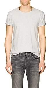 John Varvatos Men's Donegal-Effect Cotton-Blend T-Shirt - White