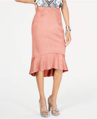 Thalia Sodi Flounce-Hem Pencil Skirt