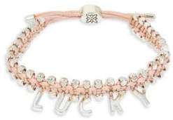 BCBGeneration LUCKY Boxed Pink Woven Adjustable Pulley Bracelet