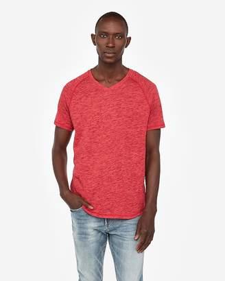 Express Burnout Short Sleeve V-Neck Baseball T-Shirt