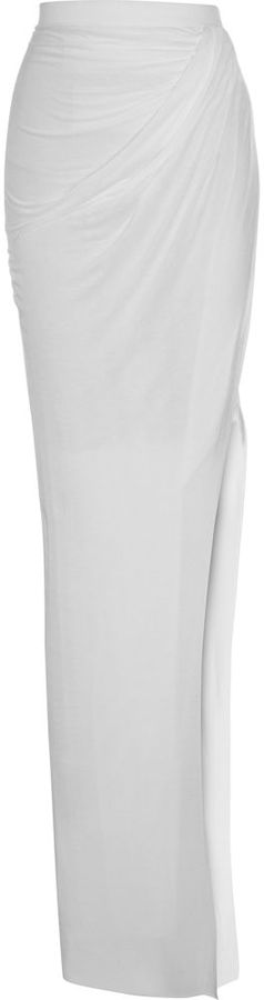 Helmut Lang Drape Long Skirt