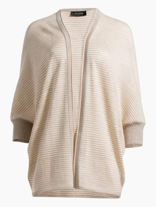 St. John Degrade Matte Shine Drop Needle Knit Cocoon Cardigan