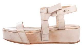 Brunello Cucinelli Leather Platform Sandals