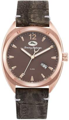 Tommy Bahama Costa Rei Stainless Steel Leather-Strap Watch