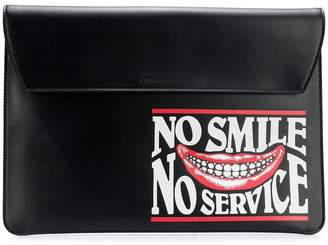 Stella McCartney No Smile No Service envelope clutch