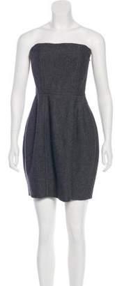 Stella McCartney Wool-Blend Strapless Dress