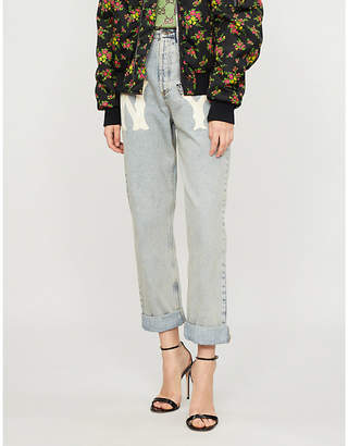 Gucci NY YankeesTM patch mid-rise relaxed-fit jeans