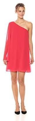 BCBGeneration Women's One Shoulder Chiffon Dress