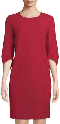 Lafayette 148 New York Miriam 3/4-Sleeve Wool Dress