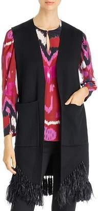 Kobi Halperin Sean Fringe-Trim Merino Wool Sweater Vest