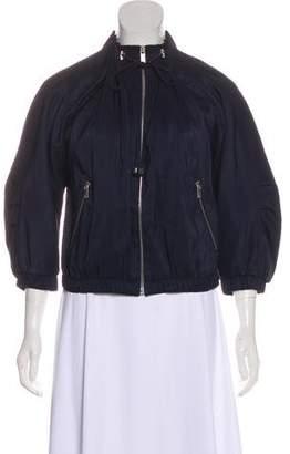 Michael Kors Silk Zip-Up Jacket