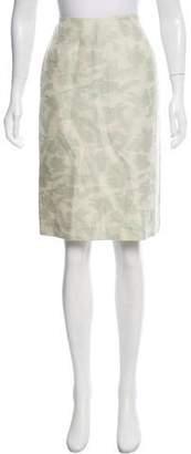 Barneys New York Barney's New York Jacquard Knee-Length Skirt