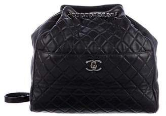 Chanel 2016 Quilted Lambskin Large Drawstring Bag