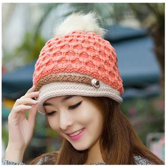 at Amazon Canada · Luoke Women s Trendy Warm Winter Soft Stretch Cable Knit  Slouchy Cap Hat bc5f45526ec1
