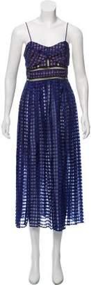 Self-Portrait Sleeveless knee-Length Dress