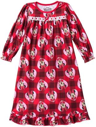 AME Minnie Mouse Plaid Granny Nightgown (Toddler Girls)