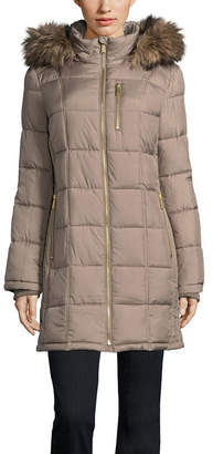 Liz Claiborne Woven Water Resistant Heavyweight Puffer Jacket-Tall