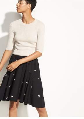 Vince Micro Floral Skirt