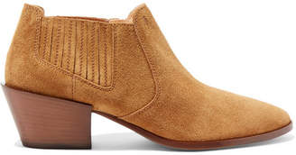 Tod's Suede Ankle Boots - Tan