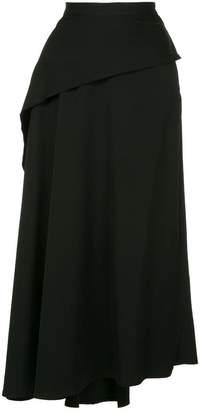 Yohji Yamamoto draped asymmetric skirt