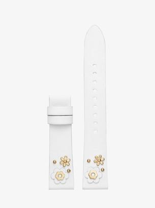 Michael Kors Sofie Floral Embellished Leather Smartwatch Strap