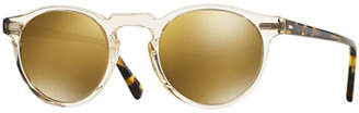 Oliver Peoples Gregory Peck 47 Round Sunglasses, Yellow