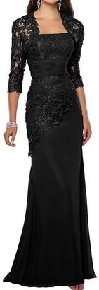 ThaliaDress Women's Mother of Bride Dress Formal Gown with Jackets T263LF US