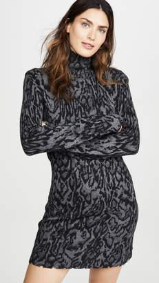Pam & Gela Ocelot Mock Neck Dress