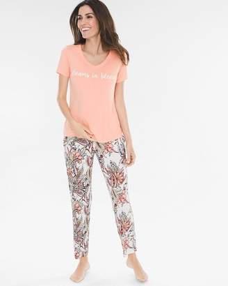 Chico's Soma For Short-Sleeve Pajama Set