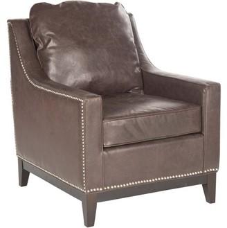 Safavieh Colton Bicast Leather Club Chair, Antique Brown