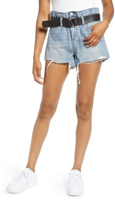 Blank NYC BLANKNYC Belted High Waist Denim Shorts