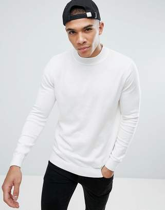 New Look Knitted Sweater In Cream