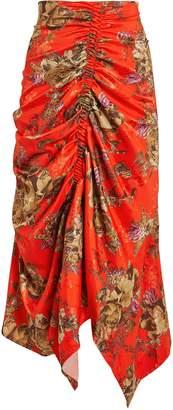 Preen by Thornton Bregazzi Quienna Cinched Floral Midi Skirt