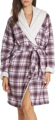 UGG Anika Fleece Lined Flannel Robe