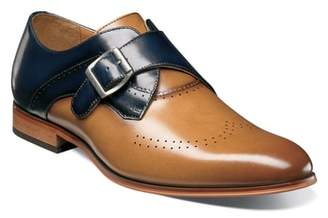 Stacy Adams Saxon Perforated Monk Shoe