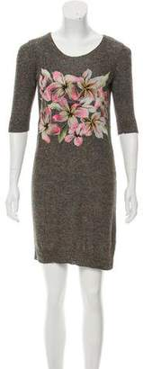 Stella McCartney Silk & Linen-Blend Embroidered Dress