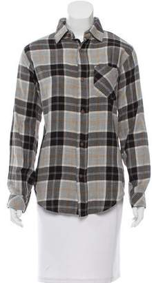 Current/Elliott Plaid Button-Up Top w/ Tags