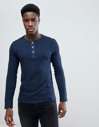 Selected Long Sleeve Top with Half Placket