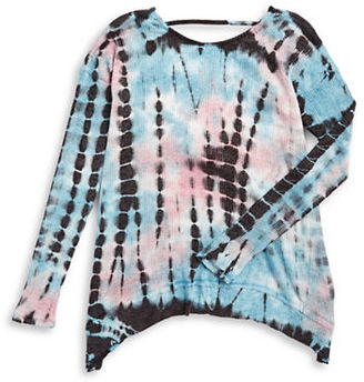 Vintage Havana Girls 7-16 Tie Dye Twist Back Top $58 thestylecure.com