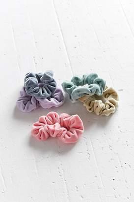 Urban Outfitters Velvet Hair Scrunchie Set