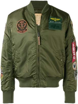 Alpha Industries patch bomber jacket