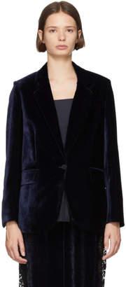 Stella McCartney Navy Fluid Velvet Blazer
