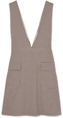 See by Chloe Checked Woven Mini Dress - Beige